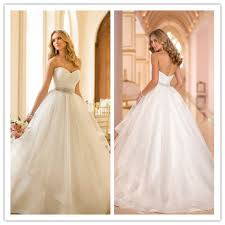 bridal websites high waist gown wedding dresses robe de mariage 2014