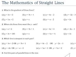 straight lines y mx c real life graphs