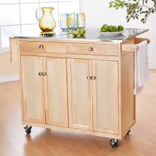 kitchen island stainless top kitchen carts kitchen island white top cherry wood cart linon