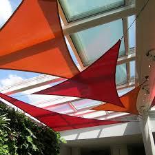 Sail Cover For Patio by 16 U0026 039 X 16 U0026 039 X 16 U0026 039 Triangle Sun Shade Sail Fabric