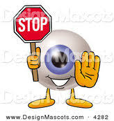 royalty free stock mascot designs of stop signs