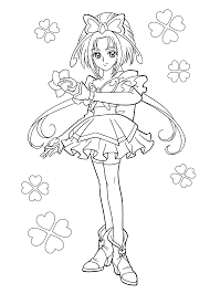 beauty from pretty cure coloring pages for kids printable