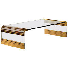 Waterfall Coffee Table Leon Rosen For Pace Collection Scalloped Brass Waterfall Cocktail