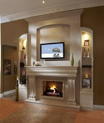 decoration terrific mounting a tv over a fireplace and shelving