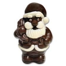 chocolate santa claus holiday gift milk dark white chocolate
