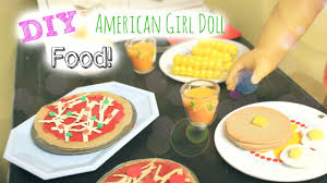 diy american doll food youtube