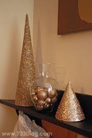 diy glitter paper cone tree inspiration made simple