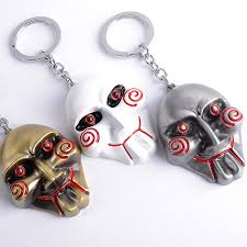 Saw Mask Online Shop Eleizhenwta 3 Colors Saw Mask Monster Devil Keychain