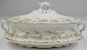 homer laughlin homer laughlin china hudson pink floral pattern oval lidded