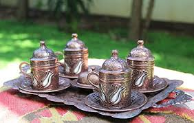 Coffee Set turkish coffee cup set for 4 express shipping with track number