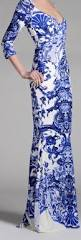blue and white delft inspired dress by roberto cavalli blue