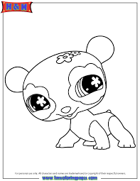littlest pet shop cute panda coloring u0026 coloring pages