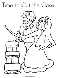 Time To Cut The Cake Coloring Page Twisty Noodle Cut Coloring Pages