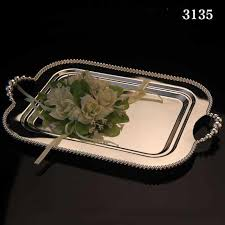 wedding serving trays online shop kingart silver hotel fruit cake plate metal dessert