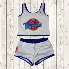 halloween city return policy space jam tune squad ladies set girls jersey and shorts stitched