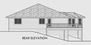 home plans for sloping lots side sloping lot house plans walkout basement house plans 10018