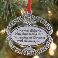 ornaments in memory of a loved one decore