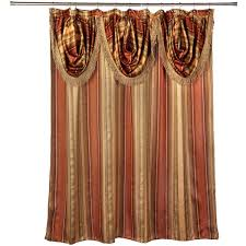 ultra modern shower curtain with valance and hooks set or