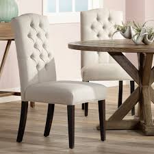 Upholstered Linen Dining Chairs Amazon Com Set Of 2 Natural Linen Button Tufted Dining Chairs