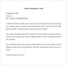 example of letters of resignation resignation letter