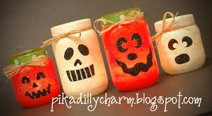 Halloween Glow Jars by Pikadilly Charm Halloween Votives