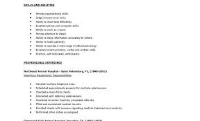 Sample Resume For Front Desk Receptionist by Receptionist Sample Resume Skills Resume Sample Receptionist Or