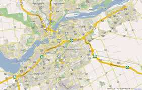 Road Map Of Canada by Ottawa Map