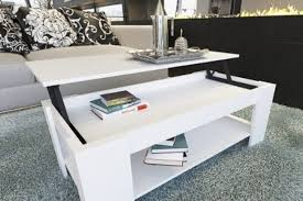 Modern White Coffee Table Coffee Table Industrial Style Coffee Table On Wheels Design