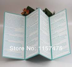 cheap printed wedding programs hi9004 customized 4 folded wedding programs order of service with