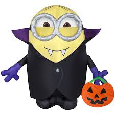 new for 2016 gemmy airblown gone batty minion airblown halloween