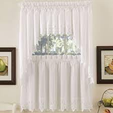 Jcpenney White Curtains Hanna Kitchen Curtains