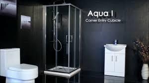aqua i6 corner entry shower enclosure youtube