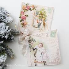 handmade christmas cards shabby art boutique