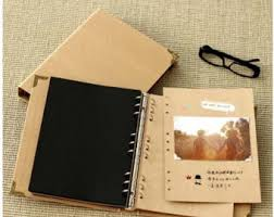 diy wedding photo album kraft paper notebook photo album painted graffiti day