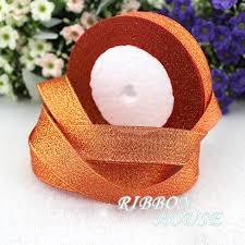 glitter ribbon wholesale aliexpress buy 25 yards roll 1 25mm orange