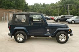 jeep gray blue 2003 jeep wrangler freedom blue 4x4 suv