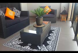 Outdoor Recycled Plastic Rugs Recycled Plastic Outdoor Rug Black U2013 Floorsome