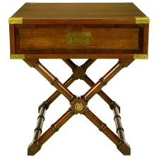 caign style side tables walnut caign style end table with saltire base at 1stdibs