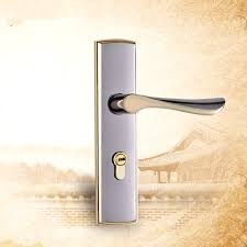 Interior Door Lock Key Zinc Alloy Hardware Furniture Door Lock Classical Handles Door For