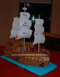 coolest all homemade pirate ship cake