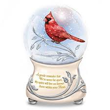 amazon com messenger from heaven memorial cardinal glitter globe
