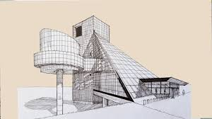 architecture sketch 007 cleveland rock and roll hall of fame