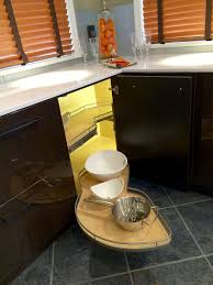 Kitchen Cabinet Storage Bins Creative Design Corner Rotating Kitchen Cabinet Outofhome