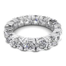 eternity rings images 5 00ctw heart full eternity round diamond engagement ring shiree jpg