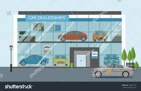 modern car dealership showroom exterior stock vector 736897135 modern car dealership showroom exterior