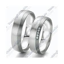 white gold wedding band sets white gold 6mm 0 10ct his and hers wedding rings set 236