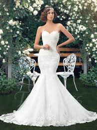 trumpet wedding dresses sweetheart lace appliques lace up trumpet wedding dress with