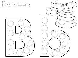 do a dot letter b printable funnycrafts preschool pinterest