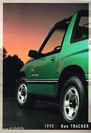 chevy tracker 1995 big 1995 chevy tracker brochure catalog with color chart lsi