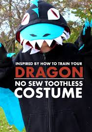 Toothless Costume 101 Handmade Costumes No Sew Dragon